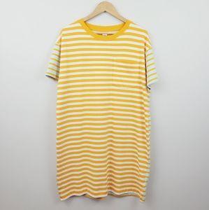 GAP | Easy Yellow Striped Pocket T-Shirt Dress